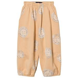 The Animals Observatory Unisex Bottoms Cream Dromedary Pants Cream Stamps