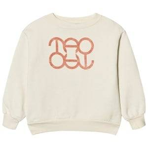 The Animals Observatory Unisex Jumpers and knitwear Cream Bear Sweatshirt White Tao Logo