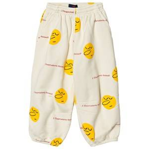 The Animals Observatory Unisex Bottoms Cream Dromedary Pants White Yellow Faces