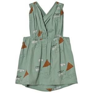 The Animals Observatory Girls Dresses Green Goose Dress Turquoise Kites
