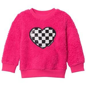 Little Marc Jacobs Girls Jumpers and knitwear Pink Pink Sequin Furry Sweater