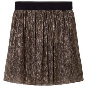 Little Marc Jacobs Girls Skirts Gold Gold Pleated Midi Skirt