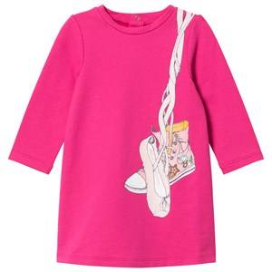 Little Marc Jacobs Girls Dresses Pink Pink Shoes Jersey Long-Sleeve Dress