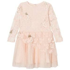 Billieblush Girls Dresses Pink Pale Pink Tulle, Sequins Embroidered Dress