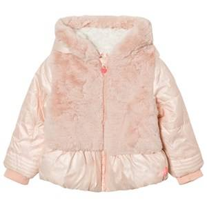 Billieblush Girls Coats and jackets Pink Pink Puffer Faux Fur Hooded Coat