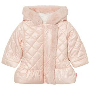 Billieblush Girls Coats and jackets Pink Pale Pink Quilted Faux Fur Lined Hooded Coat