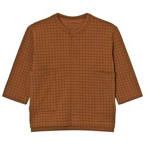 Tinycottons Unisex Jumpers and knitwear Brown Grid Cardigan Brown/Black