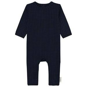 Tinycottons Unisex All in ones Blue Grid One-Piece Dark Navy/Blue