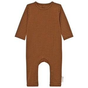 Tinycottons Unisex All in ones Brown Grid One-Piece Brown/Black
