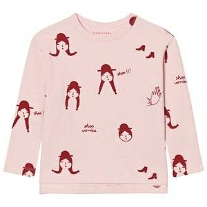 Tinycottons Unisex Tops Pink No-Worry Dolls Relaxed Tee Pale Pink/Red