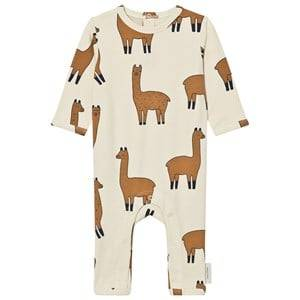 Tinycottons Unisex All in ones Beige Llamas One-Piece Beige/Nude