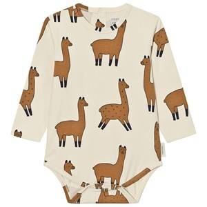 Tinycottons Unisex All in ones Beige Llamas Long Sleeve Baby Body Beige/Nude