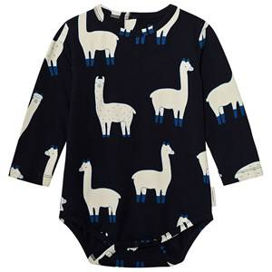 Tinycottons Unisex All in ones Blue Llamas Long Sleeve Body Dark Navy/Beige