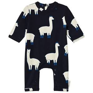 Tinycottons Unisex All in ones Blue Llamas One-Piece Dark Navy/Beige