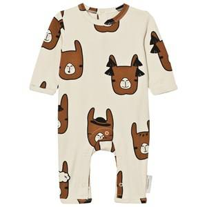 Tinycottons Unisex All in ones Beige Llama Heads One-Piece Beige/Brown