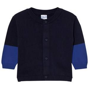 Tinycottons Unisex Jumpers and knitwear Blue Color Block Baby Cardigan Dark Navy/Blue