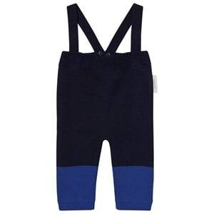 Tinycottons Unisex Bottoms Blue Color Block Baby Pant Dark Navy/Blue