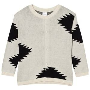 Tinycottons Unisex Jumpers and knitwear Beige Big Folk Elements Knit Cardigan Beige/Black