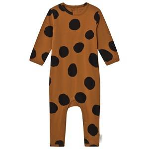 Tinycottons Unisex All in ones Brown Pom Poms One-Piece Brown/Black