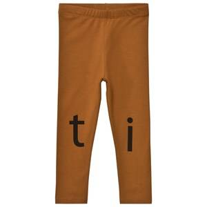 Tinycottons Unisex Bottoms Brown T-I-N-Y Logo Pant Brown/Black