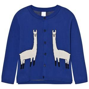 Tinycottons Unisex Jumpers and knitwear Blue Llama Cardigan Blue/Beige