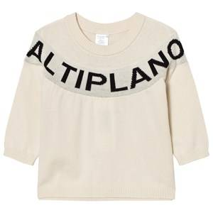 Tinycottons Unisex Jumpers and knitwear Beige Altiplano Sweater Oversized Beige/Black