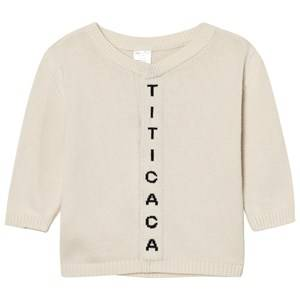 Tinycottons Unisex Jumpers and knitwear Beige Titicaca Knit Cardigan Beige/Black