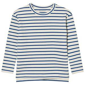Tinycottons Unisex Tops Beige Stripes Tee Beige/Blue