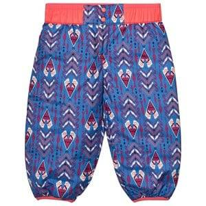 Patagonia Unisex Bottoms Blue Baby Reversible Puff-Ball Pants Tipikat Oasis Blue