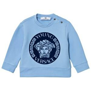 Young Versace Boys Jumpers and knitwear Blue Pale Blue Navy Medusa Sweatshirt