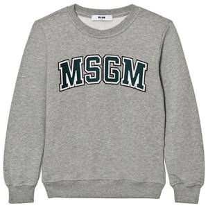 MSGM Boys Jumpers and knitwear Grey Grey Branded Varsity Sweatshirt