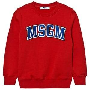 MSGM Boys Jumpers and knitwear Red Red Branded Varsity Sweatshirt
