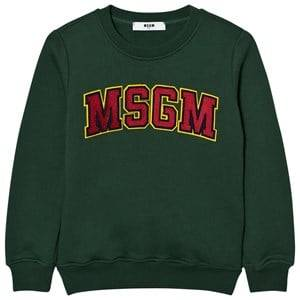 MSGM Boys Jumpers and knitwear Green Green Branded Varsity Sweatshirt