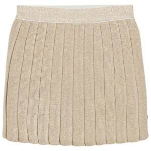 Billieblush Girls Skirts Gold Gold Knitted Lurex Pleated Skirt