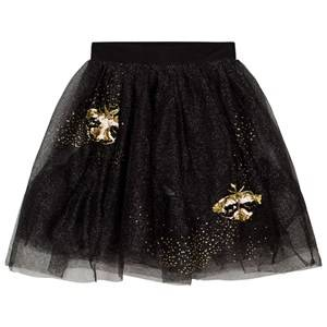 Billieblush Girls Skirts Black Black Gold Glitter Embroidered Tulle Skirt