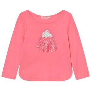 Billieblush Girls Tops Pink Pink Jelly Glitter Tee