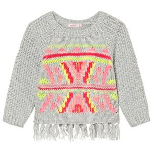 Billieblush Girls Jumpers and knitwear Grey Grey Knitted Patterned Tassle Jumper