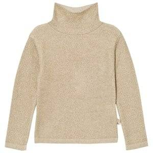 Billieblush Girls Jumpers and knitwear Gold Gold Lurex Turtle Neck Sweater