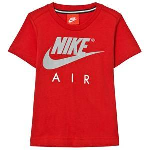 NIKE Boys Tops Red Red Carbon Heather Nike Air Tee