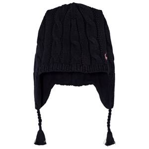 Ralph Lauren Girls Headwear Navy Navy Earflap Hat