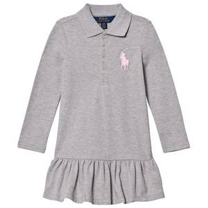 Ralph Lauren Girls Dresses Grey Grey Polo Flounce Dress