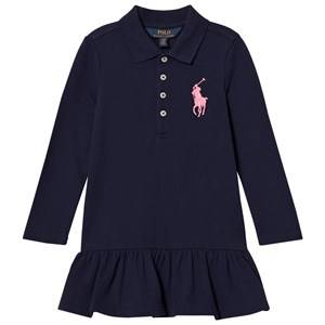 Ralph Lauren Girls Dresses Navy Navy Polo Flounce Dress