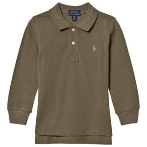 Ralph Lauren Boys Jumpers and knitwear Green Basic Long Sleeve Polo Olive