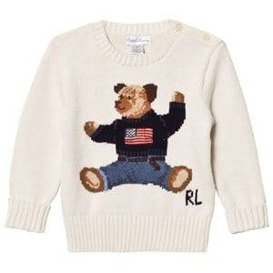 Ralph Lauren Boys Jumpers and knitwear White Bear Infant Sweater Warm White