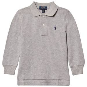 Ralph Lauren Boys Jumpers and knitwear Grey Basic Long Sleeve Polo Gray