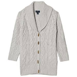 Ralph Lauren Girls Jumpers and knitwear Grey Grey Cable Knit Chunky Cardigan