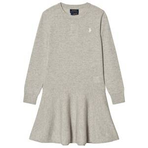 Ralph Lauren Girls Dresses Grey Grey Wool Sweater Dress