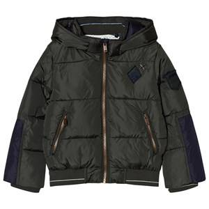 IKKS Boys Coats and jackets Green Khaki Hooded Puffer Coat