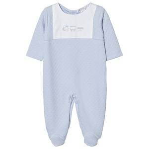 Kissy Kissy Boys All in ones Blue Footed Baby Body Jacquard Pale Blue