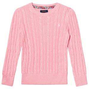 Ralph Lauren Girls Jumpers and knitwear Pink Classic Cable Knit Sweater Pink